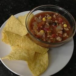 slow cooker taco turkey soup