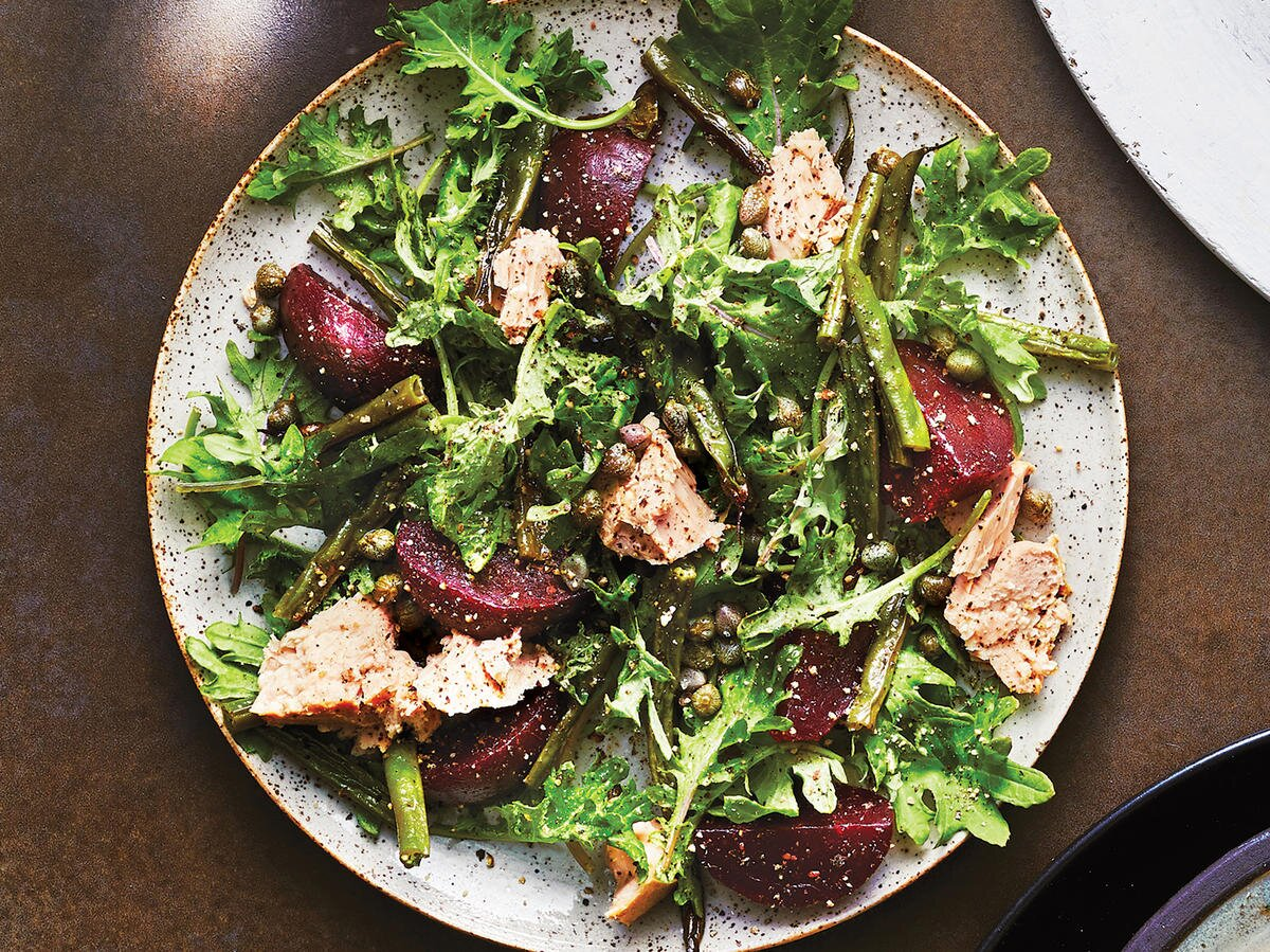 Roasted Vegetable Kale And Tuna Salad Recipe Cooking Light
