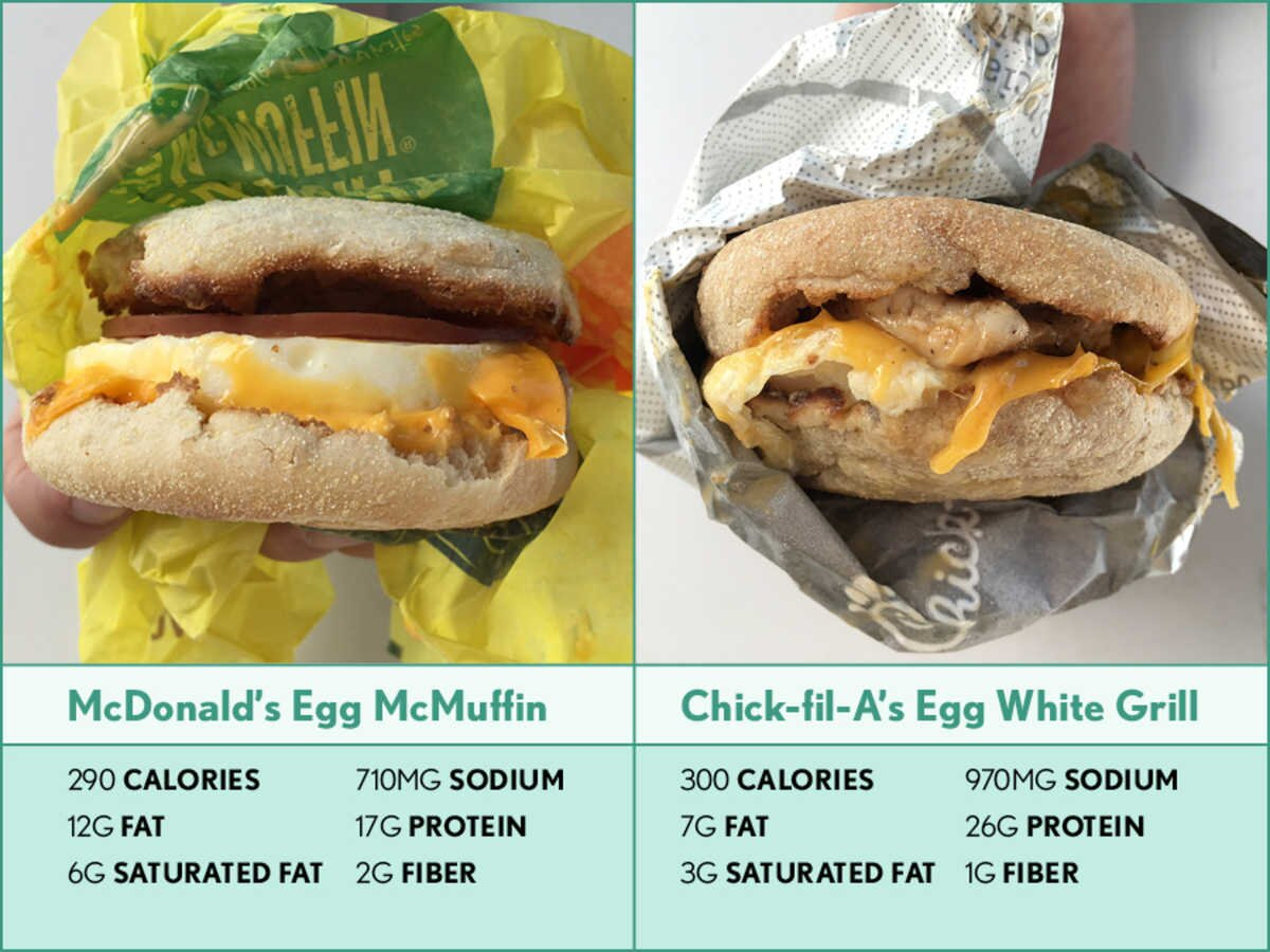 Healthiest Fast Food Breakfast Chick Fil A S Egg White Grill Cooking Light