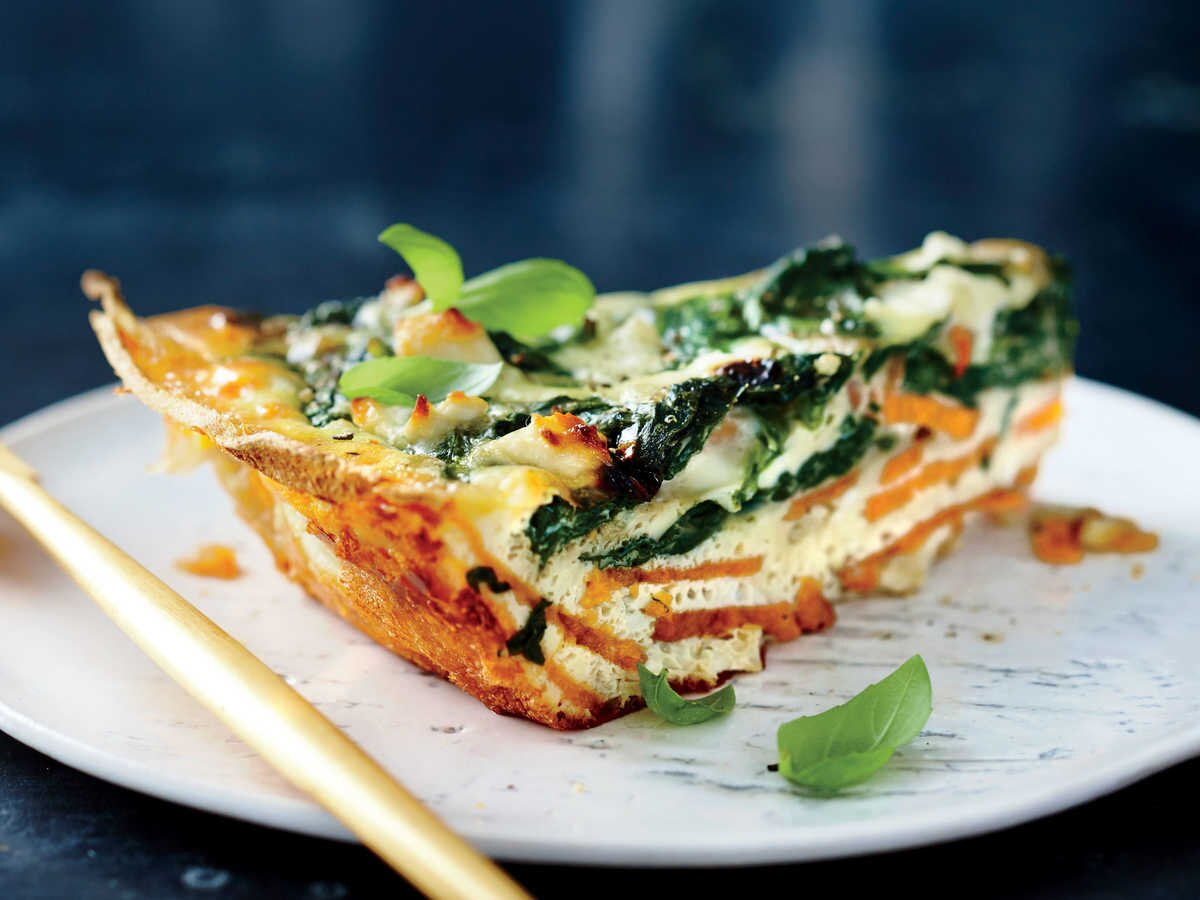 Spinach And Feta Quiche With Sweet Potato Crust Recipe Cooking Light
