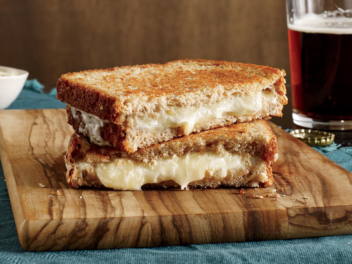 This Cheesy, Golden-Crisp Grilled Cheese Has Half the Fat