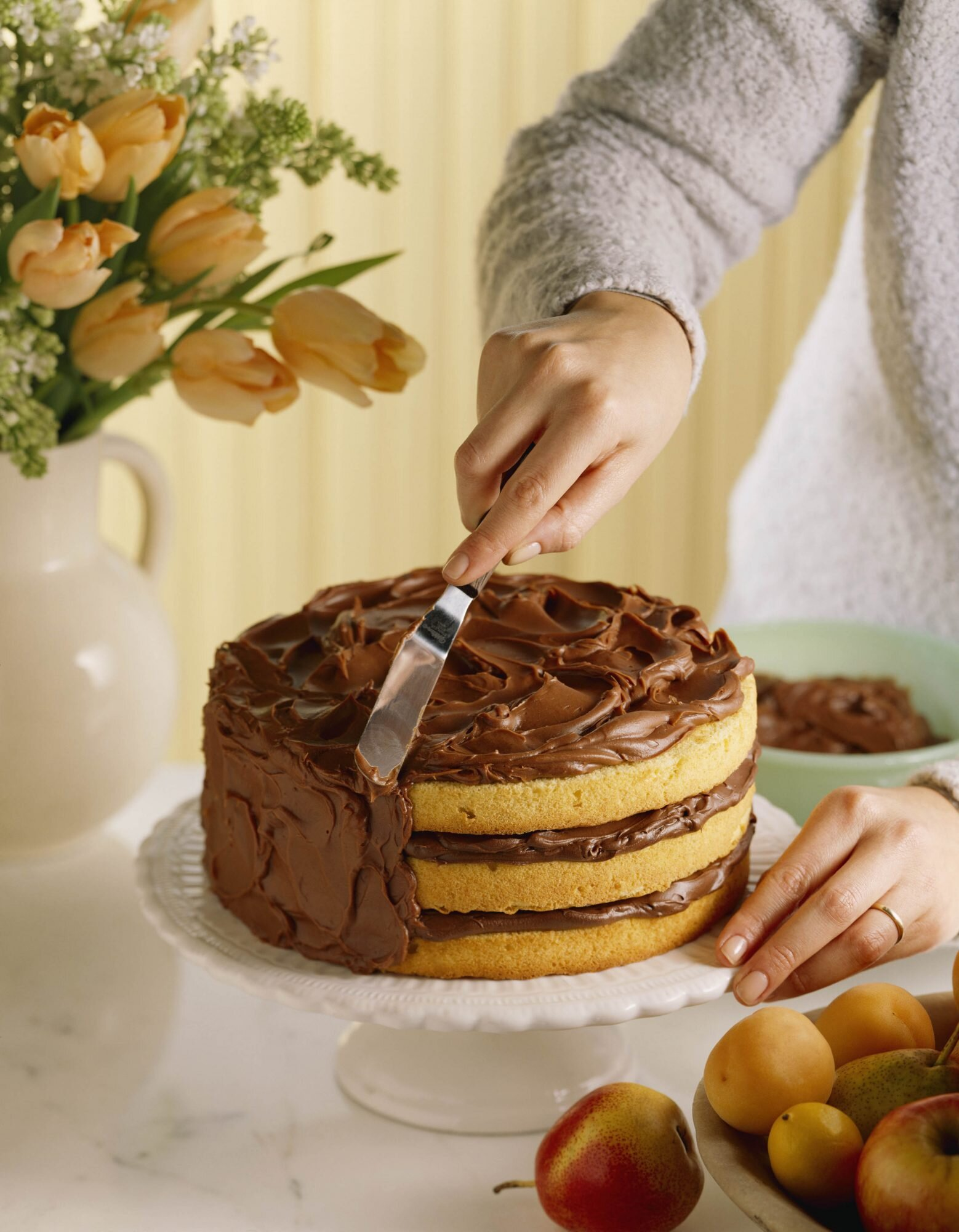 Better Boxed Yellow Cake with Chocolate Frosting Recipe