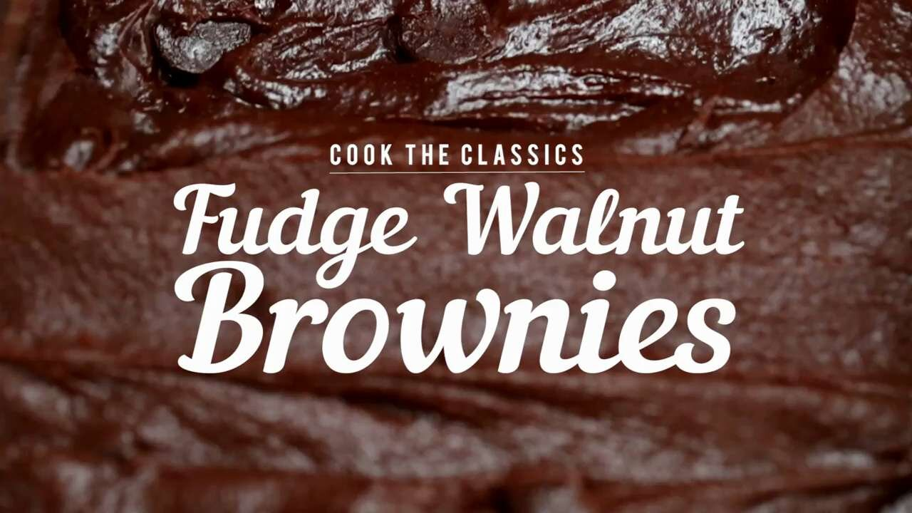 How to Make Classic Fudge-Walnut Brownies