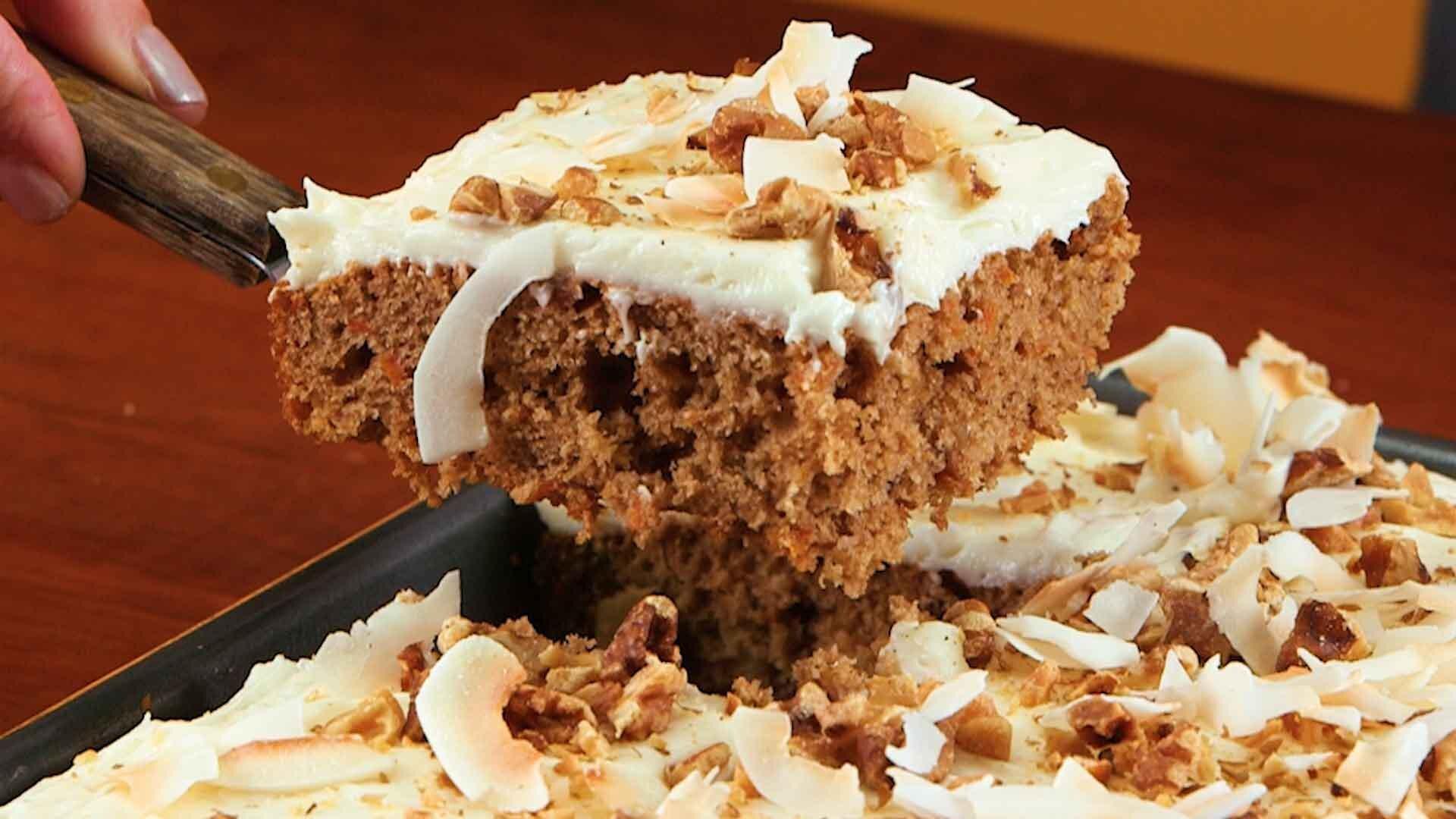 How to Make Shortcut Carrot Sheet Cake