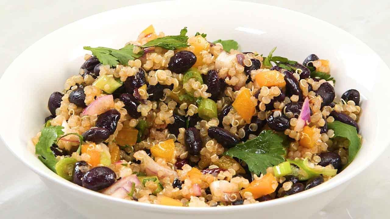How to Make Black Bean and Quinoa Salad