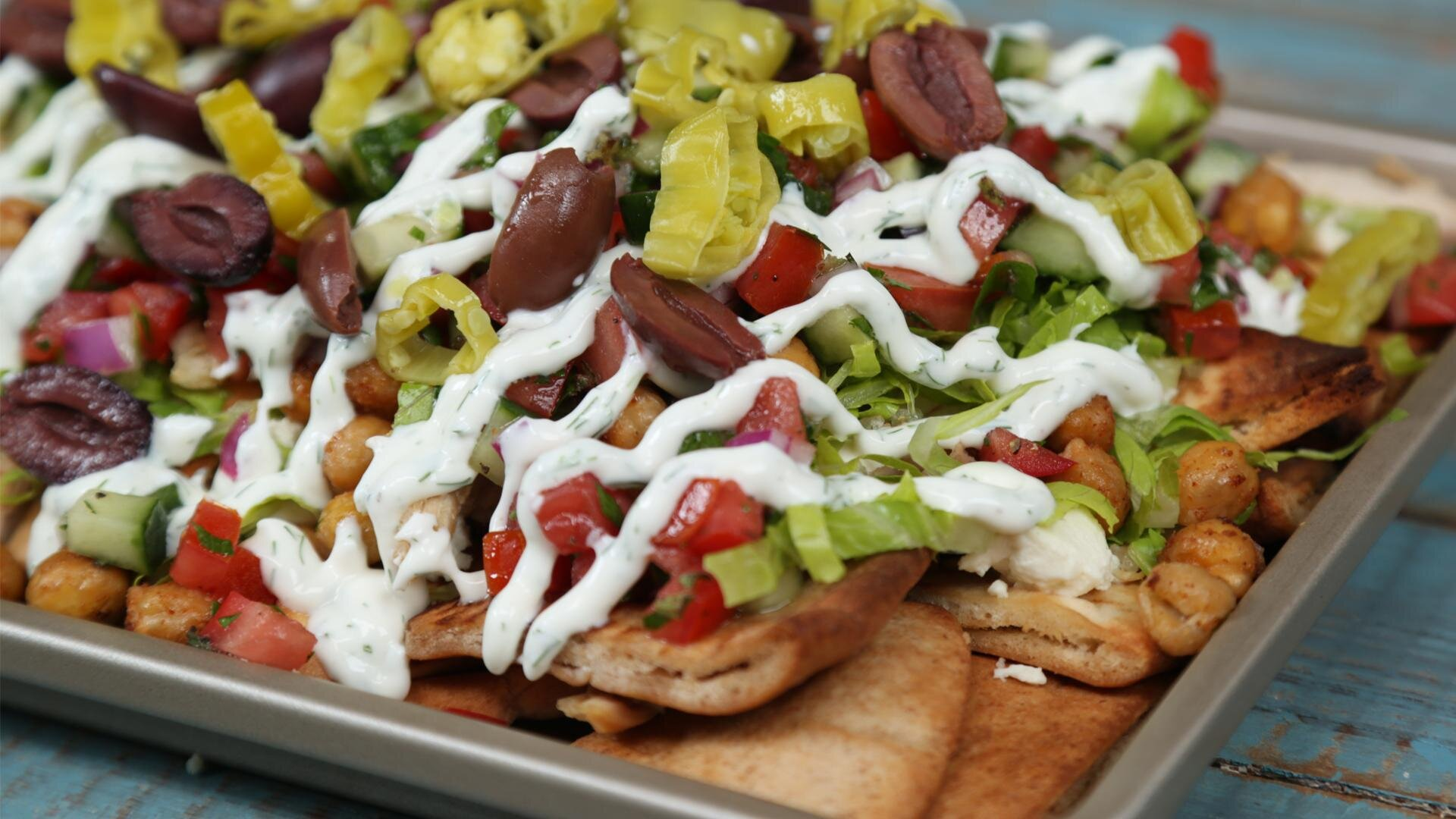 How to Make Loaded Greek Salad Nachos