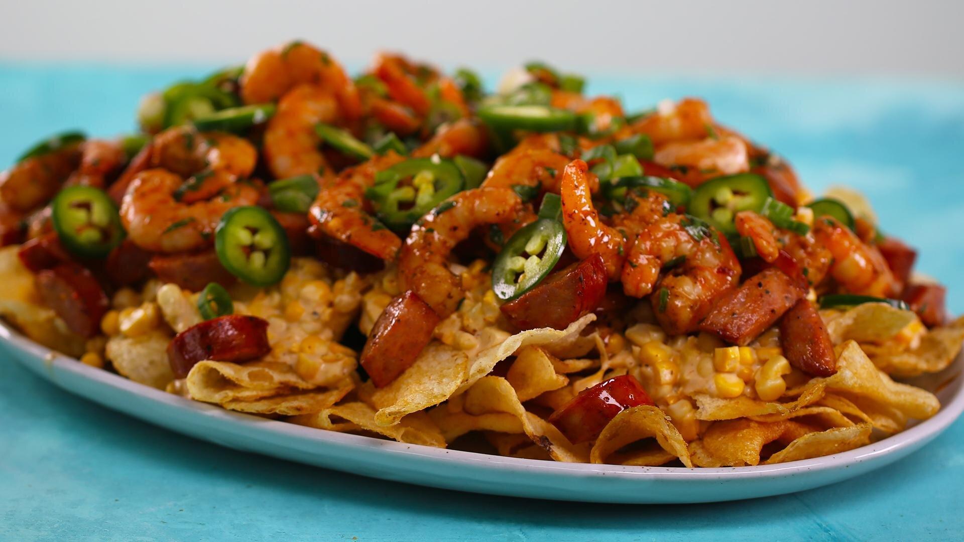 How to Make Shrimp Boil Nachos
