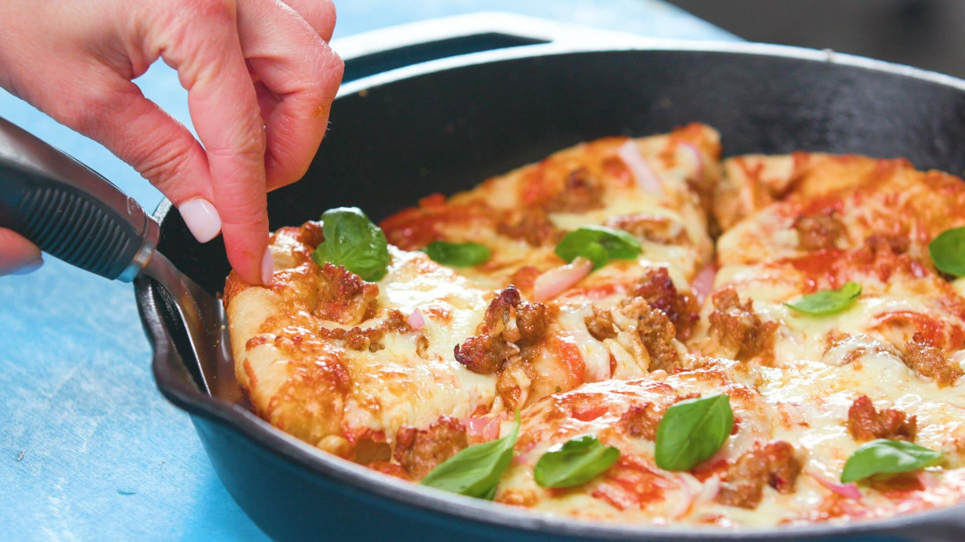 How to Make Classic Cast Iron Pizza