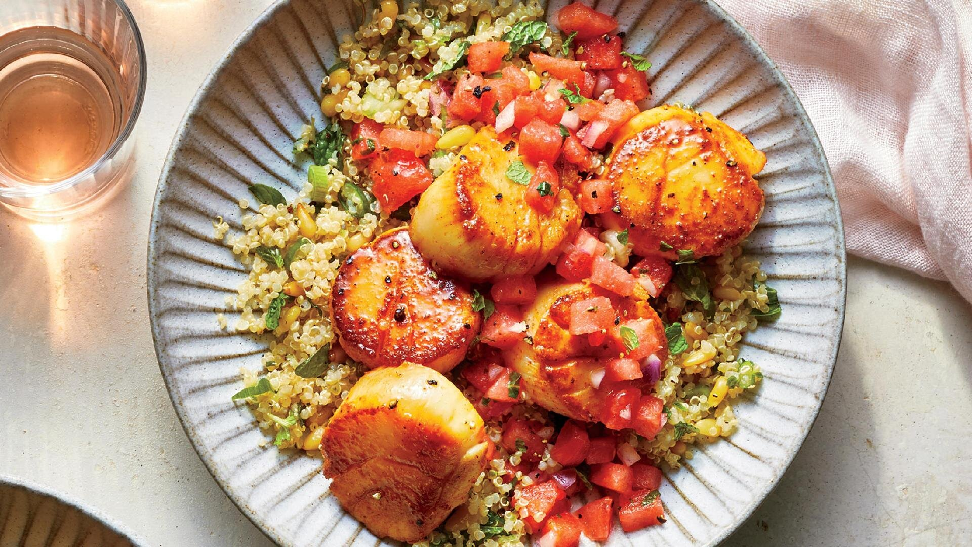 How to Make Spicy Scallops with Watermelon Salsa