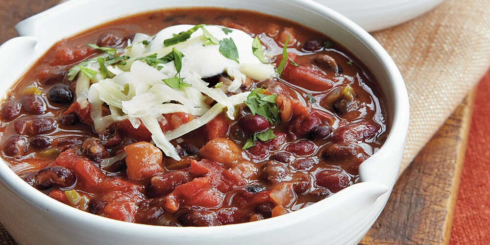 Three Bean Vegetarian Chili Recipe Myrecipes