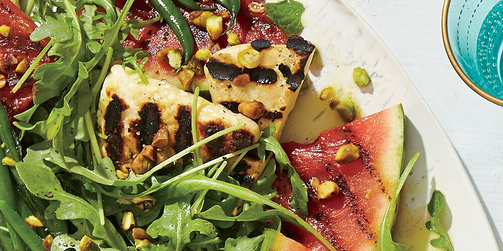 Green Bean Halloumi Salad Recipe