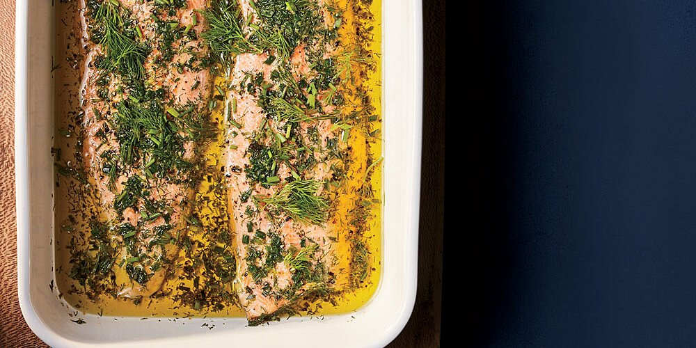 Oven Poached Arctic Char Recipe Justin Chapple Food Wine