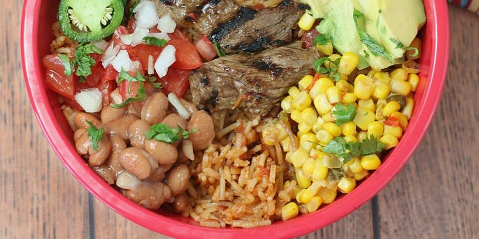 sizzling steak burrito bowl recipe