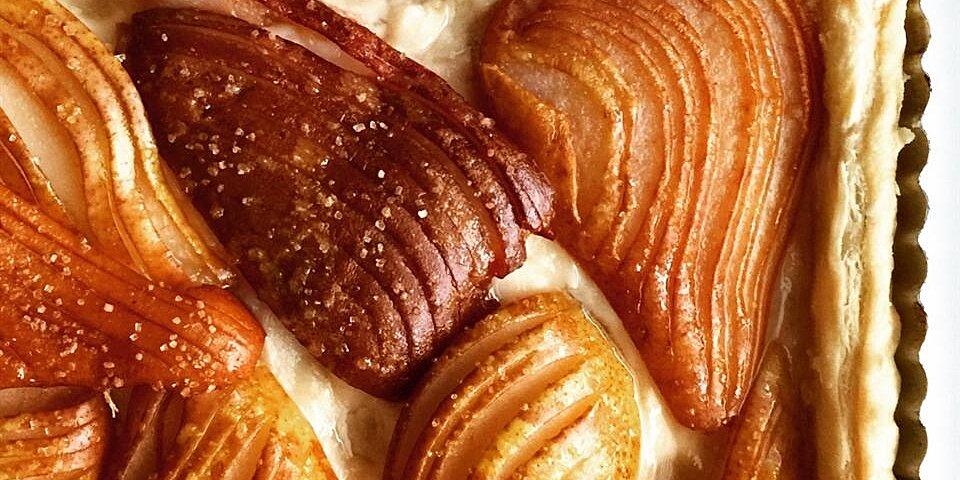 hasselback pear tart recipe