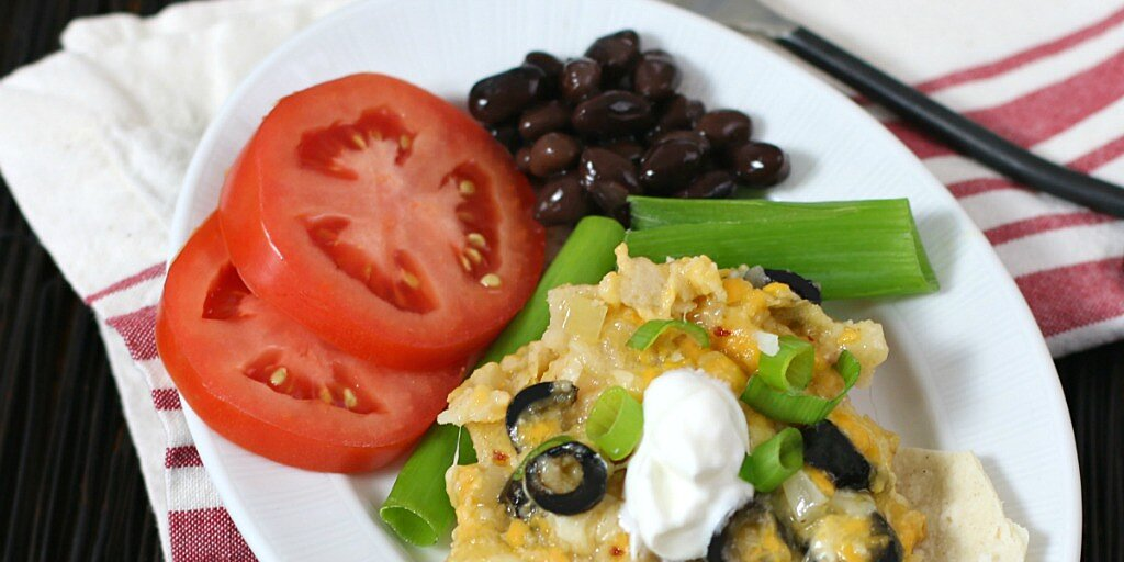 cheesy vegetarian enchilada casserole recipe
