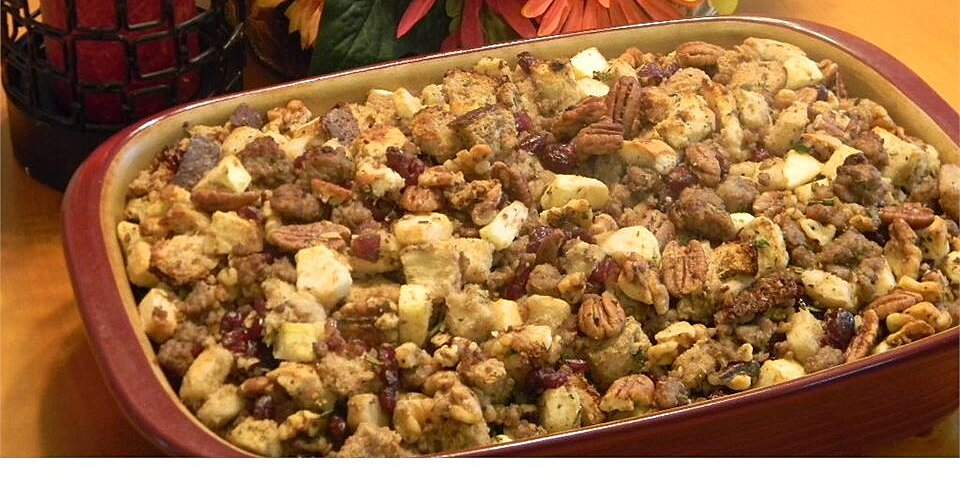 sausage apple and cranberry dressing recipe