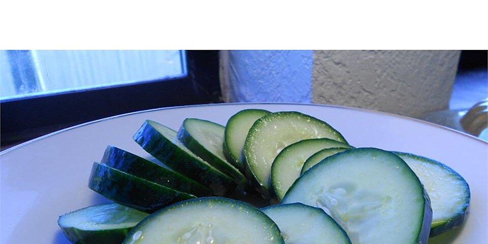 easy tangy cucumber salad recipe