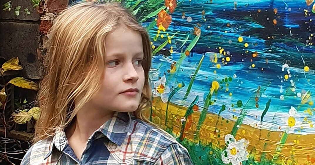"""This 10-Year-Old """"Mini-Monet"""" Donates the Tens of Thousands of Dollars She Earns From Her Paintings To Charity"""