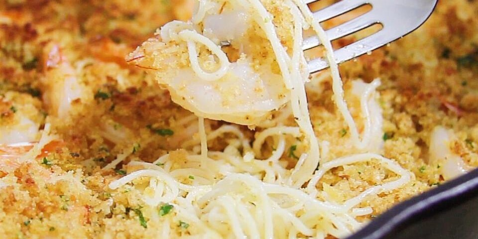 parmesan crusted shrimp scampi with pasta recipe