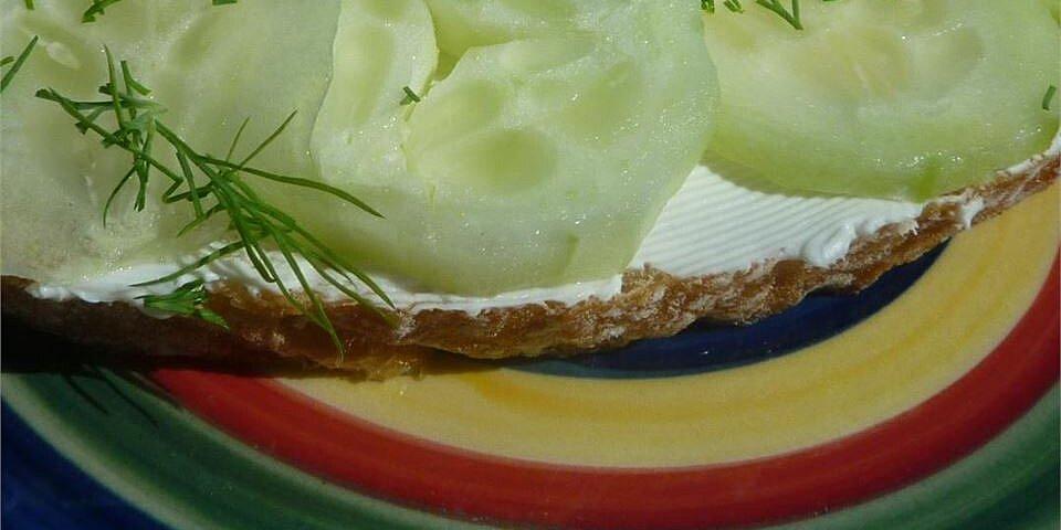 summer time cucumber sandwiches recipe