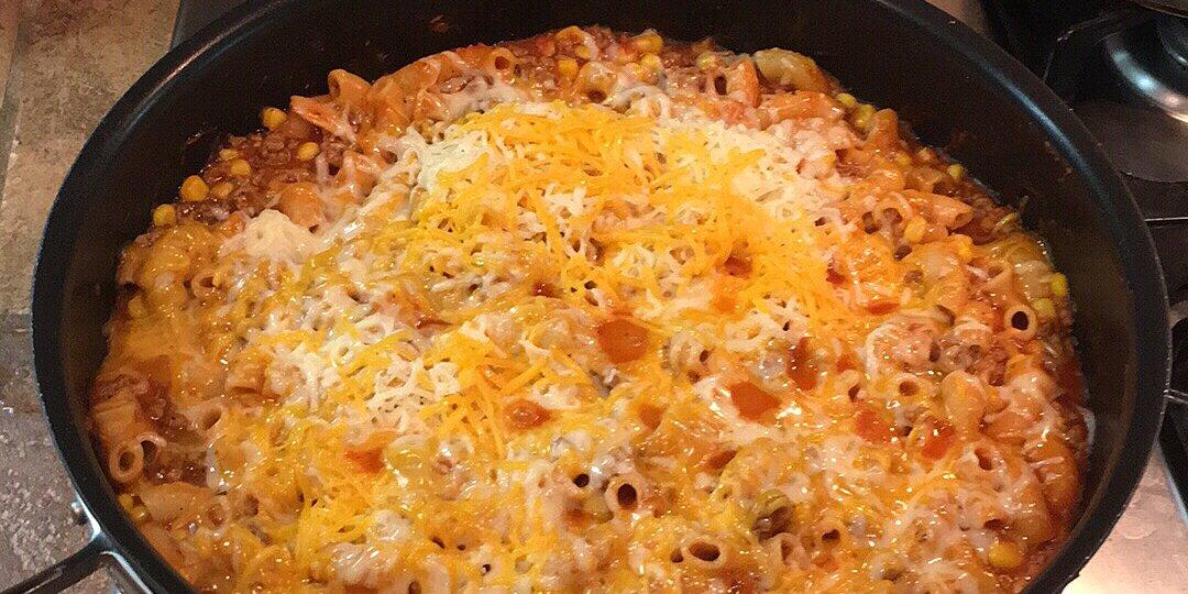 hamburger and macaroni hot dish recipe