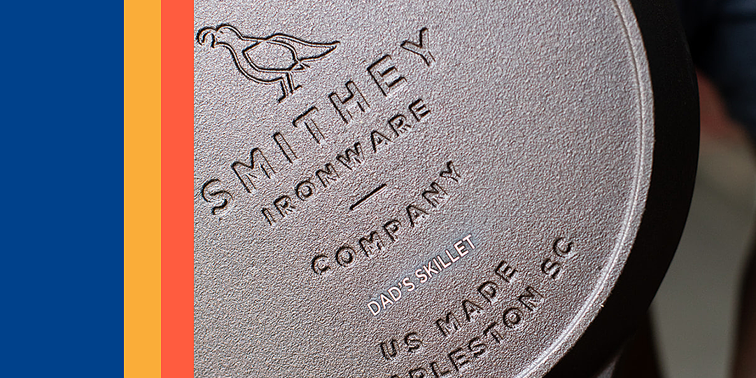 smithey ironware co now engraves their cast iron skillets for