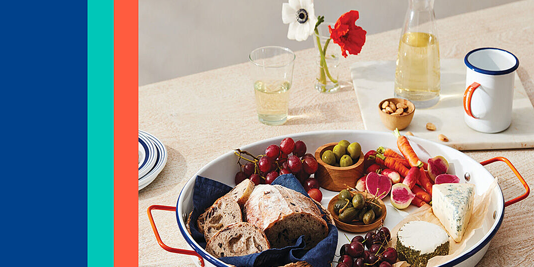 le creusets new enamelware line is perfect for summer cookouts