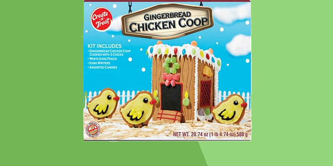 gingerbread chicken coop at tractor supply co
