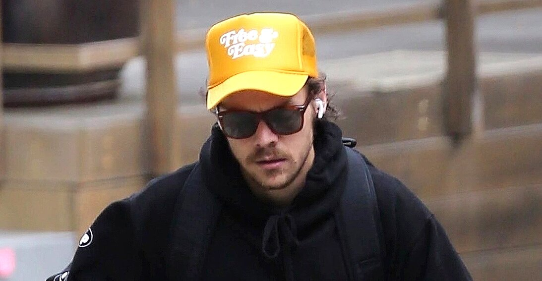 Harry Styles Steps Out With Scruffy Quarantine Beard People Com