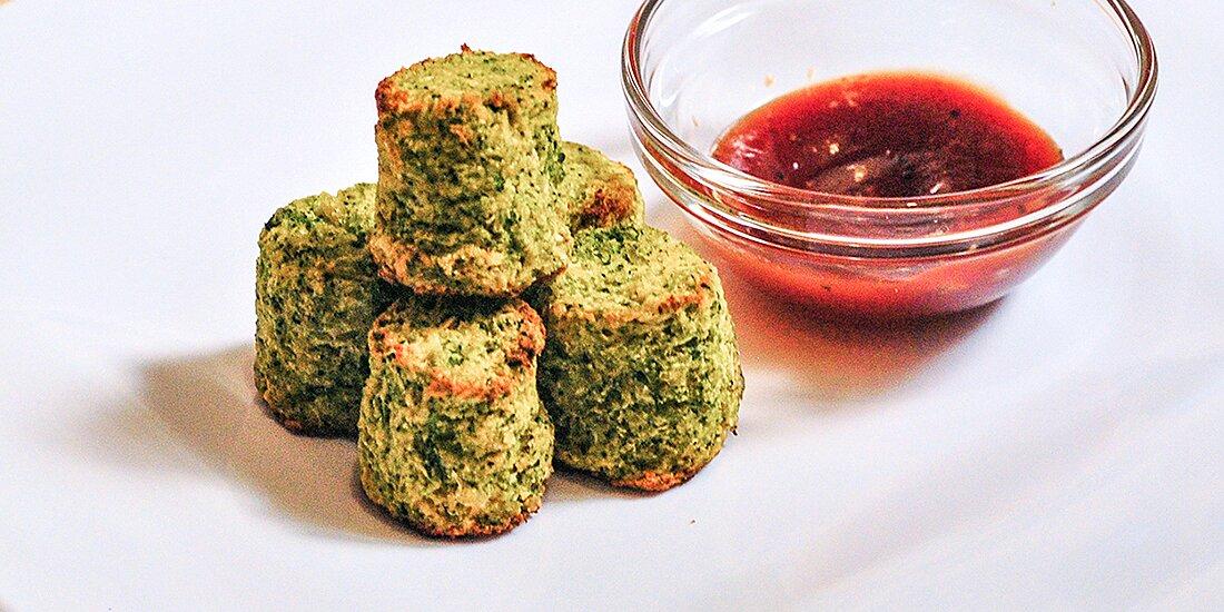 cheesy broccoli cauliflower tots recipe