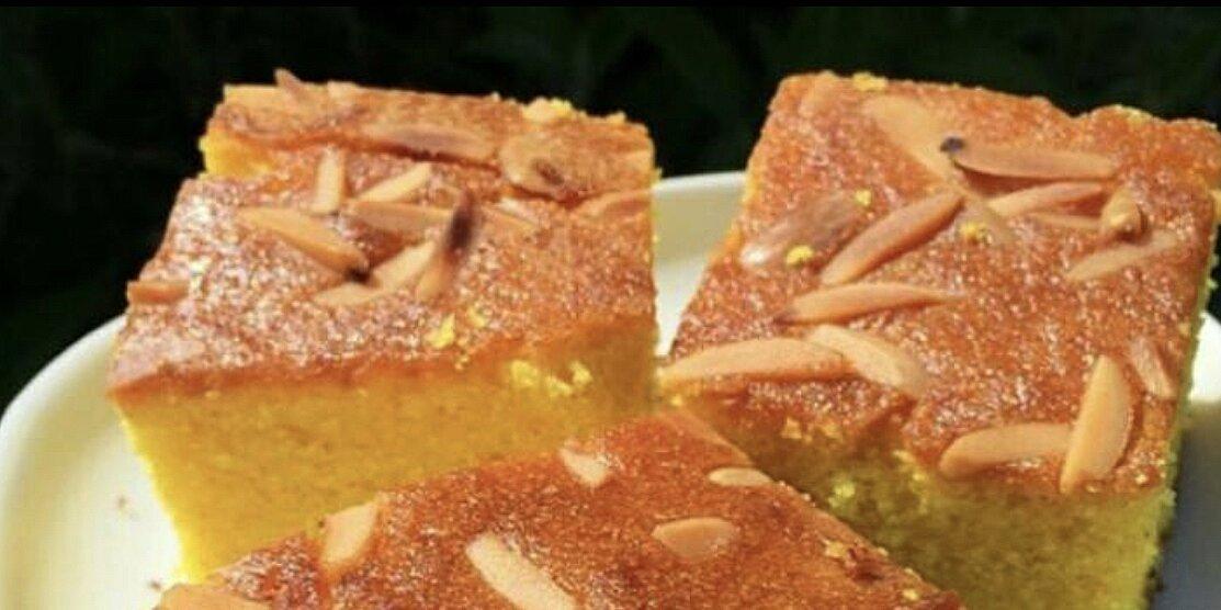 semolina turmeric cake sfoof recipe