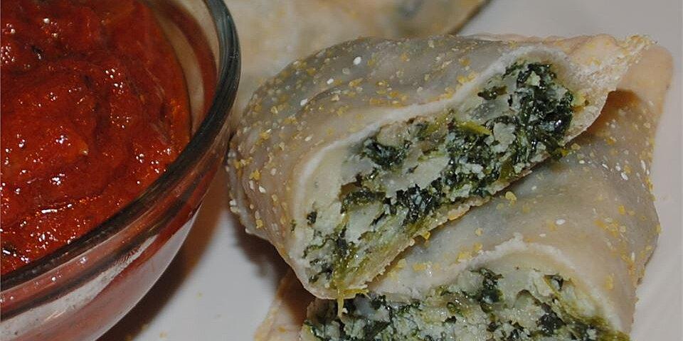 quick spinach ricotta calzones recipe