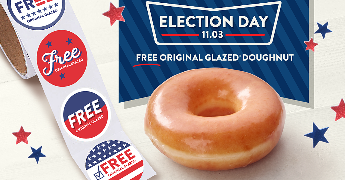 You Can Get a Free Doughnut from Krispy Kreme on Election Day — Here's How