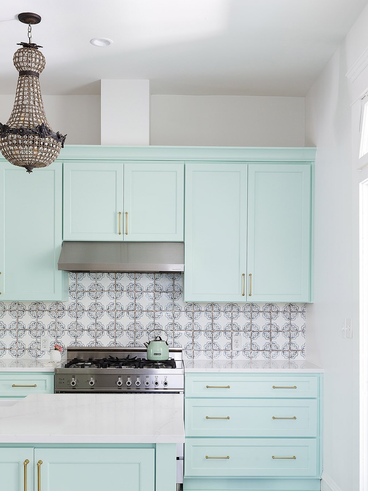 Mint Green Is The Unexpected Kitchen Cabinet Color Your Small