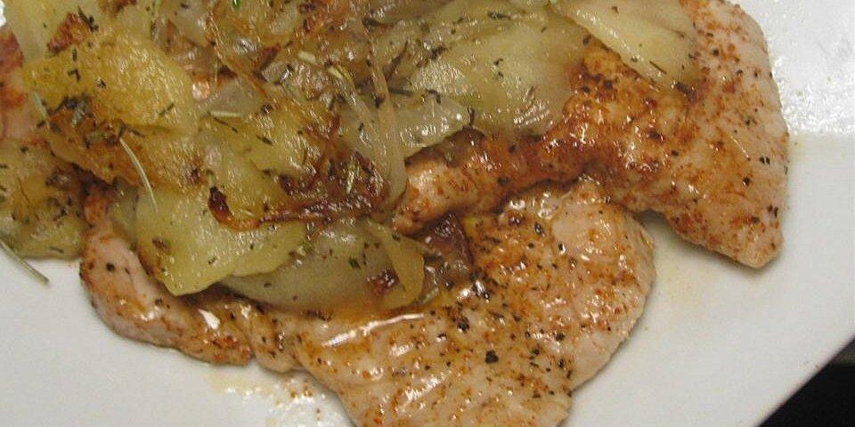 autumn apple onion pork chops recipe