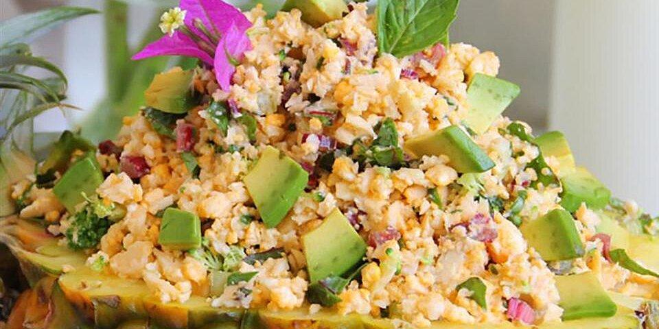 gluten free pineapple cauliflower fried rice recipe