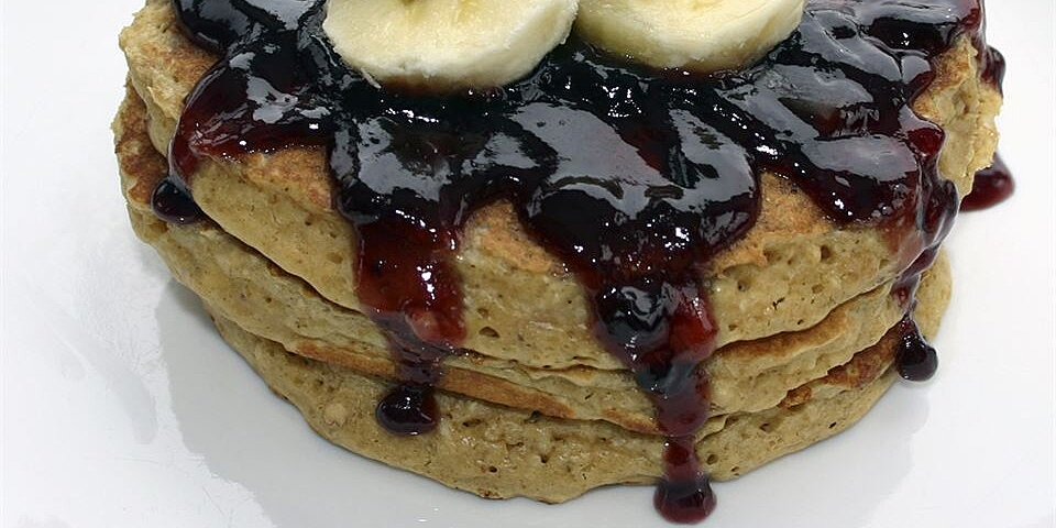 peanut butter and jelly oatmeal pancakes recipe