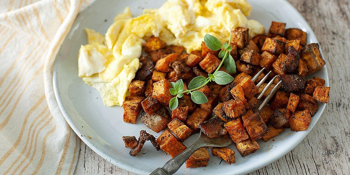 air fryer sweet potato hash recipe