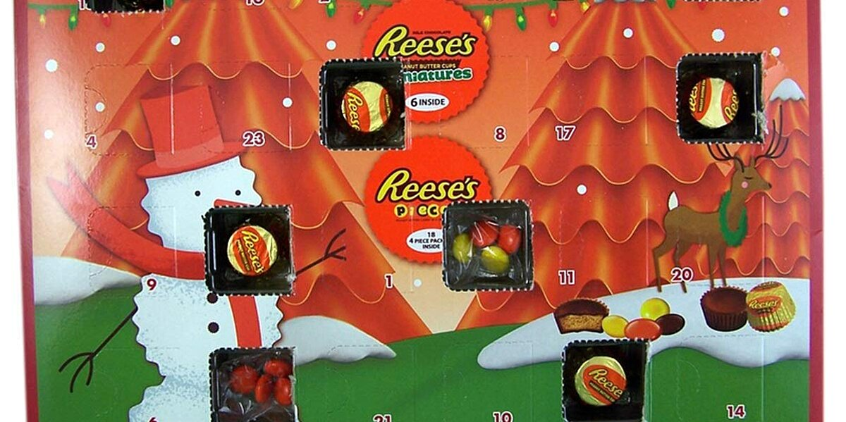 this reeses advent calendar might be the sweetest way to count