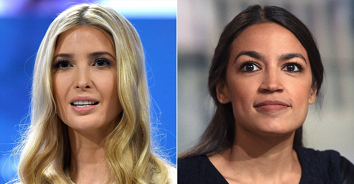 Ivanka Trump and Alexandria Ocasio-Cortez Square Off on Twitter Over the Average American's Pay Check