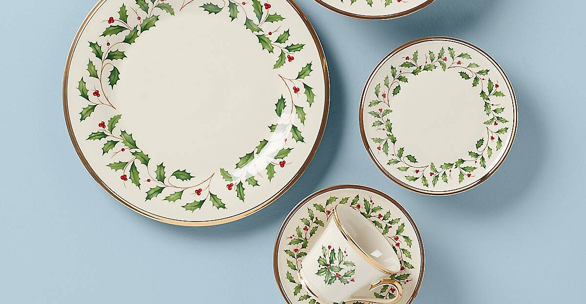 Christmas China Patterns You'll Love for Your Southern Home