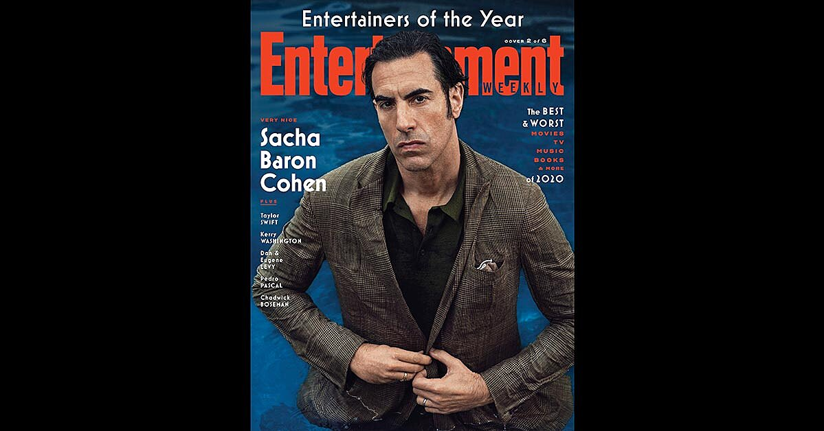 For Sacha Baron Cohen, his two big 2020 projects had a core idea in common