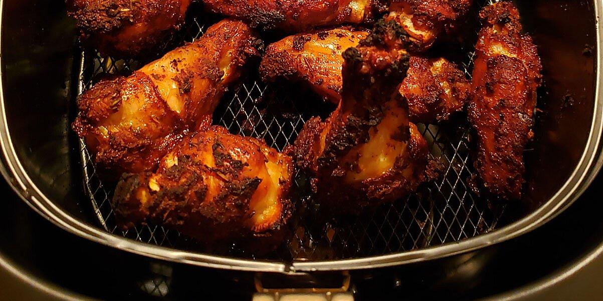 dry rub air fried chicken wings recipe