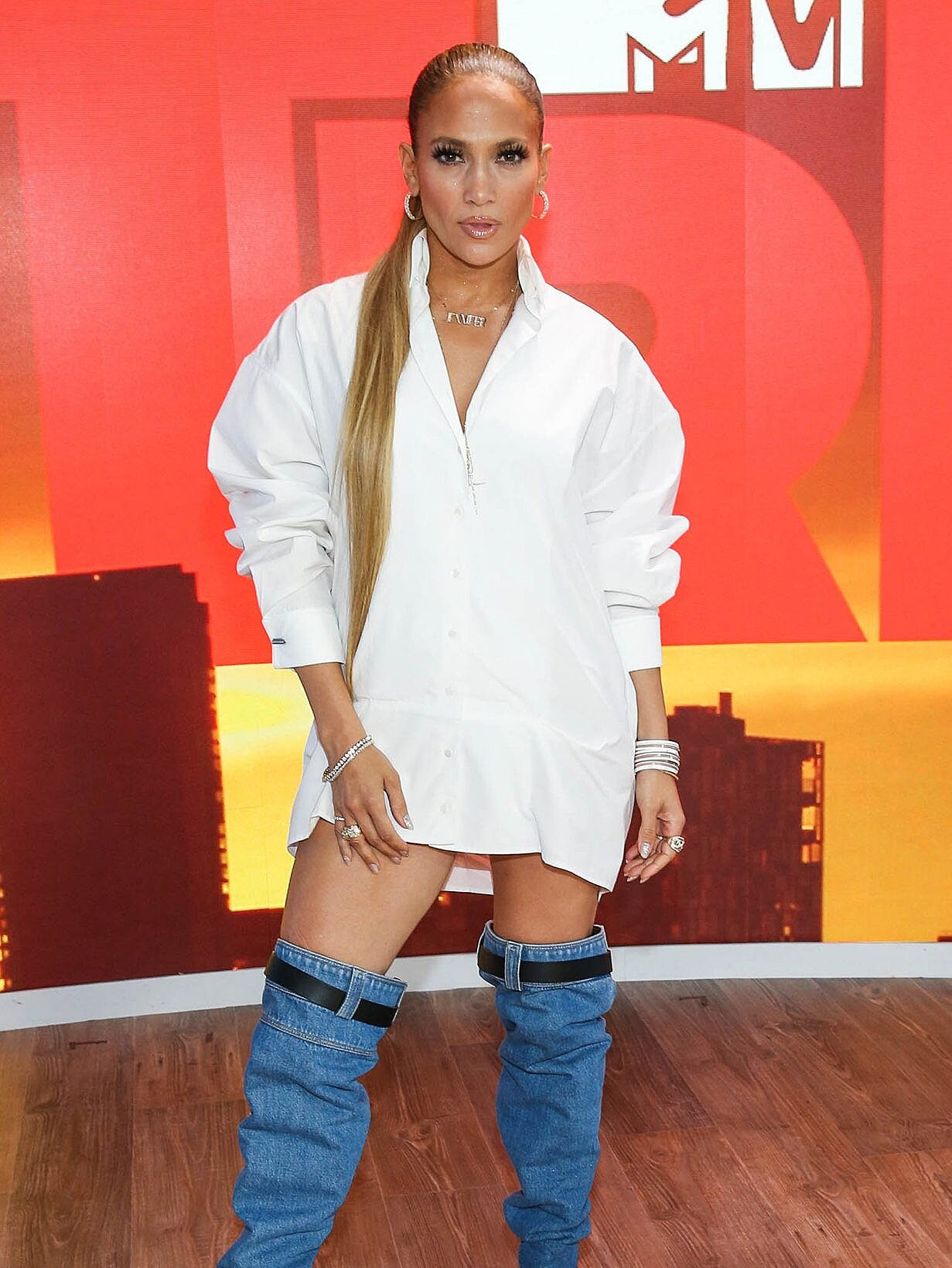 Jennifer Lopez S Denim Boots Have Twitter Freaking Out People Com
