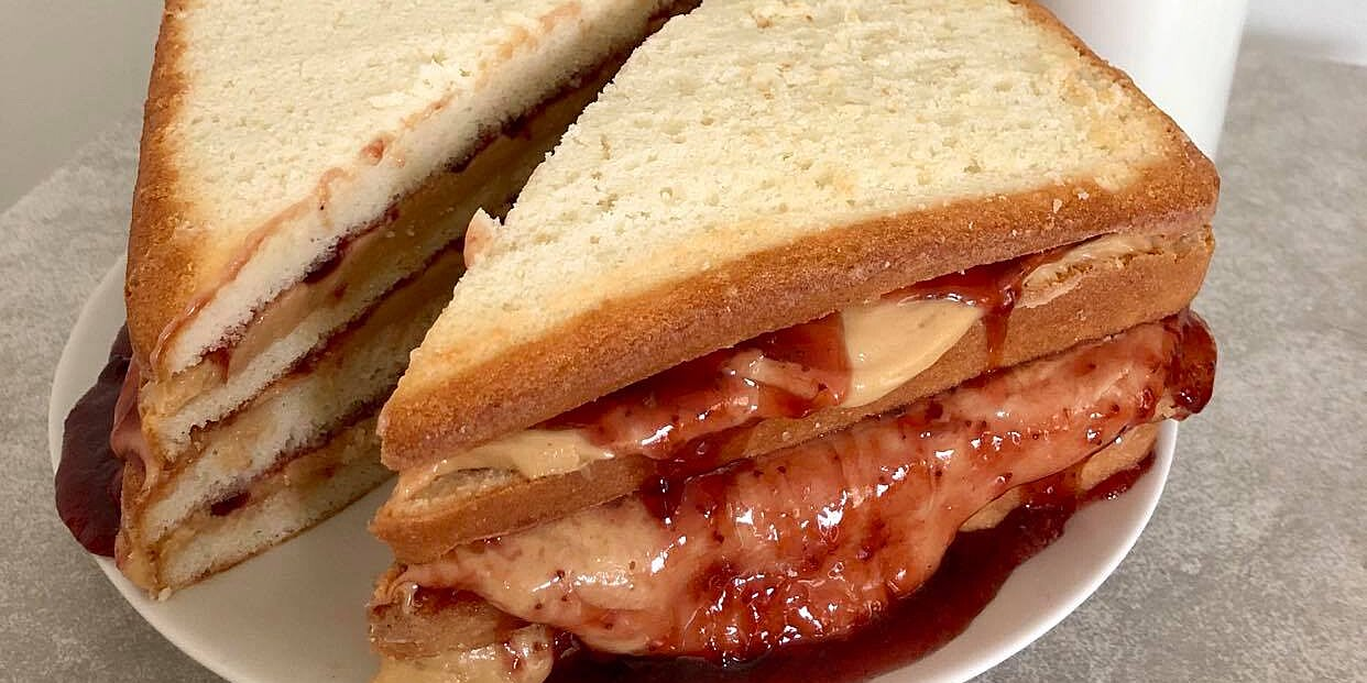 how to make a peanut butter and jelly cake