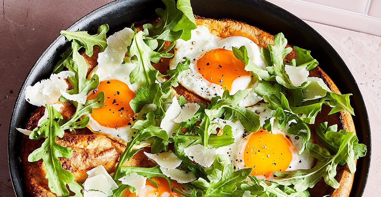 Savory Dutch Baby with Arugula & Parmesan
