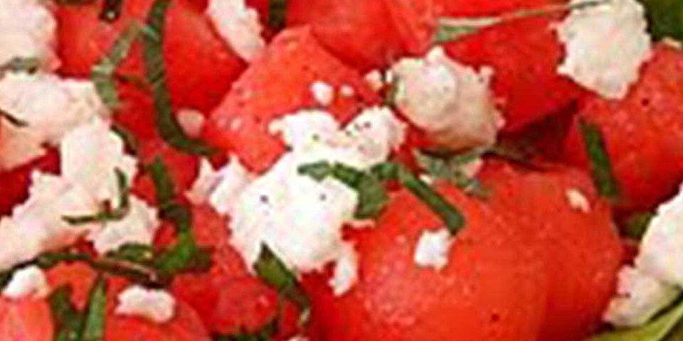 watermelon feta and cashew salad