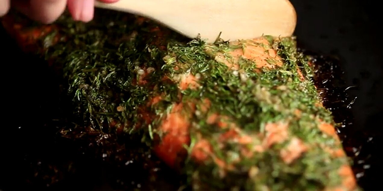 oven baked salmon with herbs recipe