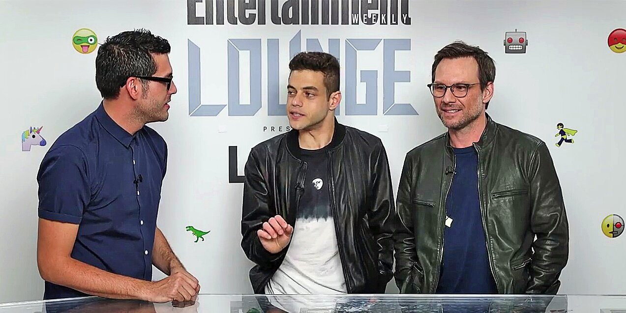 Mr Robot Christian Slater And Rami Malek Interview At Comic Con Ew Com