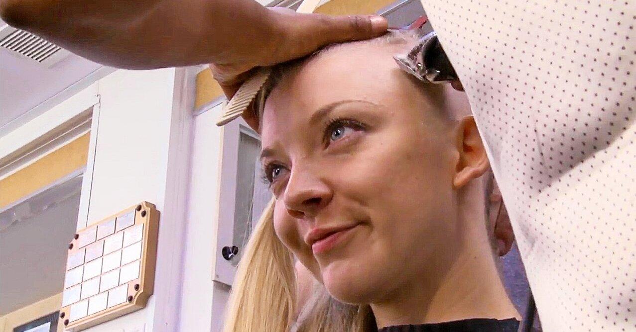 Watch Natalie Dormer S Head Get Shaved For Mockingjay Ew Com